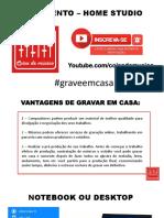 CURSO HOME STUDIO - EQUIPAMENTOS (PARTE 1)