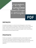 Aula 02 - Linguagem, Funções Executivas, Motivação e Emoção