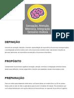 Aula 03 - Sensação, Atenção, Memória, Integração Sensório-motora