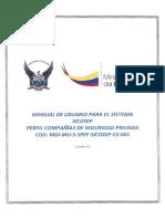 Manual de Usuario Compañías de Seguridad Privada v2.0