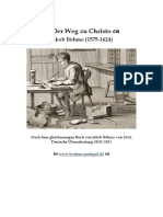 Jakob Böhme, Der Weg Zu Christo