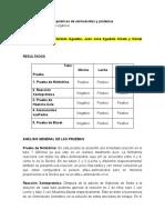 Informe 7 - Propiedades químicas de aminoácidos y proteínas
