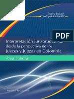 Interpretación Jurisprudencial Desde La Perspectiva de Los Jueces y Juezas en Colombia – Módulo Área Laboral