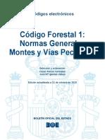 BOE-268 Codigo Forestal 1 Normas Generales Montes y Vias Pecuarias