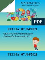 Clase Matemática 2do 7-4-21