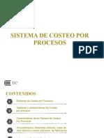 SEMANA 2 CLASE 1 SESION 1 SISTEMA DE COSTEO POR PROCESOS