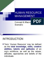 1HUMAN RESOURCE MANAGEMENT intro