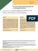 Tradução e Adaptação de Um Software de Treinamento Da Escuta No Ruído Para o Português Brasileiro