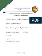 TIPOS DE IMPUESTOS DE LA REPUBLICA DOMINICA