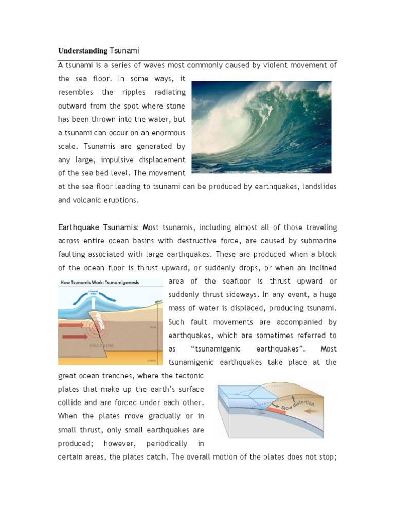tsunami safety tips tsunami earthquakes