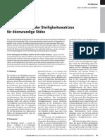 Cywinski Z Entwicklung steifigkeitsmatrizen dünnwandige stäbe 2009 05