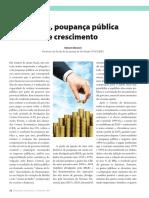 Poupança Pública e Crescimento