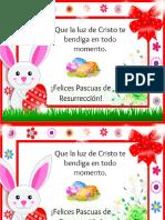 tarjeta pascua resurrección