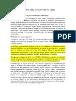Libreto . LAS ARTES EN LA EDUCACIÓN EN COLOMBIA
