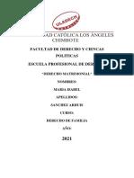 DERECHO MATRIMONIAL (2)