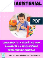 MODULO DE MATEMÁTICA  N° 1 - NIVEL PRIMARIA