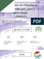 Clase 3-Desarrollo I (Anamnesis, Pre-peri y Post Natal)