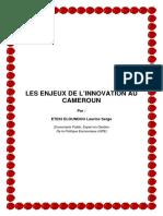 ENJEUX DE LINNOVATION AU CAMEROUN