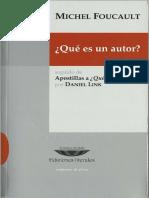 Foucault, Michel (2010) - Qué es un autor