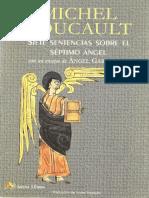 Foucault, Michel (2011) - 7 sentencias sobre el 7 ángel