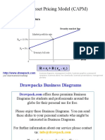Capital Asset Pricing Model (CAPM) business diagram
