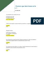 Cuestionario. Factores Que Intervienen en La Comunicación. 4