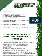 Tema i Introduccion y Antecedentes de La Direccion de Recursos Humanos