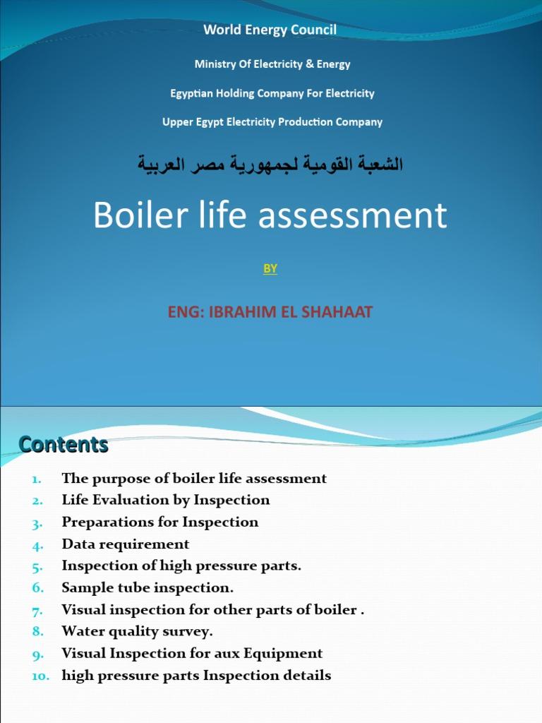 BOILER REMAINING LIFE ASSESS   Boiler   Pipe (Fluid Conveyance)