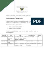 CONVOCATORIA NO. 022 DEL 01 DE OCTUBRE DE 2020