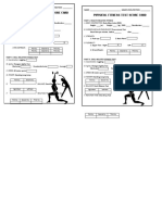 Physical Fitness Test Score Card