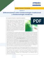 Diferenciamos entre biotecnología tradicional
