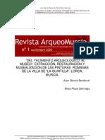 García, J. Plaza, R. Extracción, rest. y musealización pinturas Quintanilla. 2003
