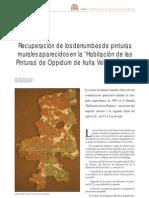 Jabaloyas, J. Recuperación derrumbes murales. 2004