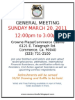 General Meeting SUNDAY MARCH 20 2011 Scribd Version