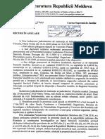 Recurs la CSJ al Procurorului General