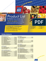 BFP Product List 2011