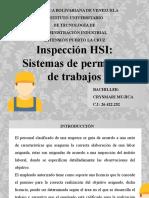 Inspección HSI y sistemas de permisos de trabajo.