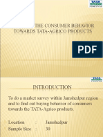 To Know the consumer behavior towards Tata-agrico products - Copy