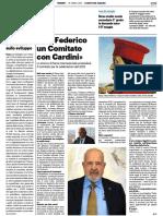 Per Federico un comitato con Cardini - Il Resto del Carlino del 16 aprile 2021