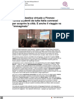 Gita scolastica virtuale a Firenze