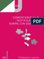 148 Cj - Comentario Notificación Sobre Jon Sobrino