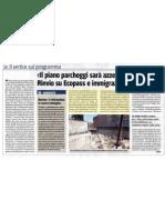 """""""Il piano parcheggi sarà azzerato"""" 20110308_IlGiornale"""