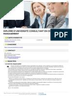 Du Consultant Organisation Management Detail