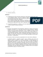 2. Filosofia 10 - Teste 1 - Soluções