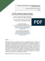 ARTIGO EM LP FOUCAULT E A HISTORIA DA EDUCAÇÃO BRASILEIRA