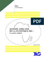 Journée Africaine de la Statistique 2001