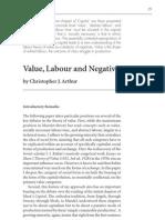 Arthur - Value, Labour and Negativity