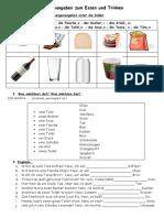 Mengenangaben Essen Und Trinken Arbeitsblatter 103167