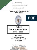 Faculté de pharmacie de Monastir -  Guide