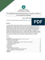 Documento de trabajo Fecundidad España